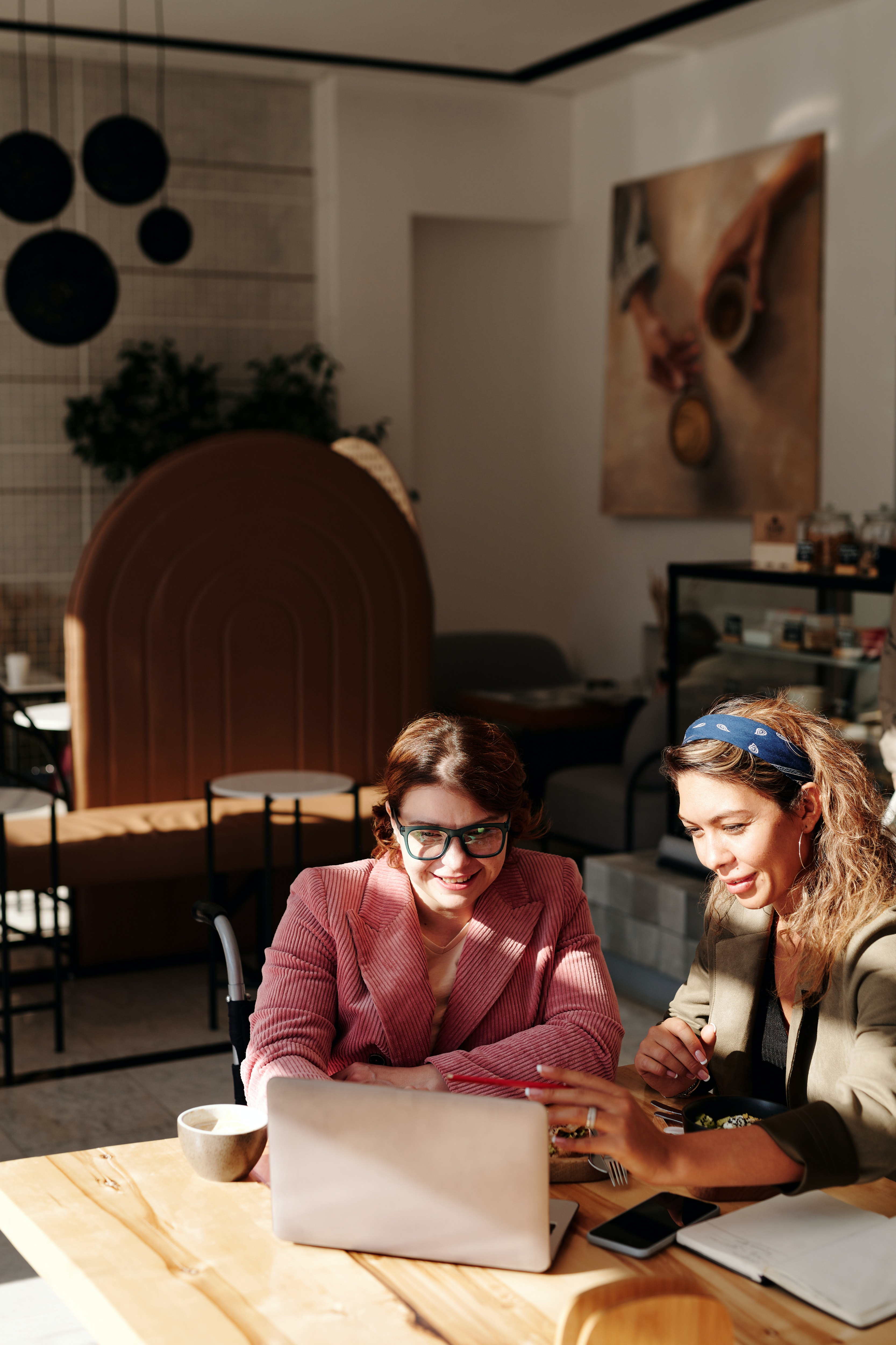Women Having Meeting at the Coffee Shop